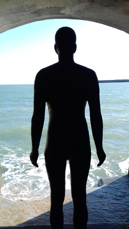 Antony Gormley, Another Time XX1, 2013 (Folkestone 2017)